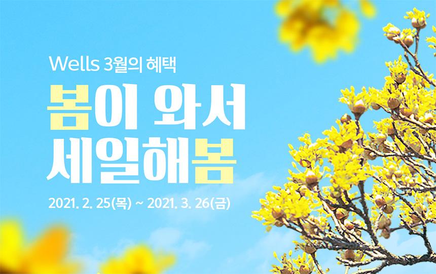 3월 웰스 특별 프로모션! 봄이 와서 세일해 봄!